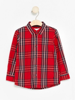 Long Sleeve Cotton Shirt Red