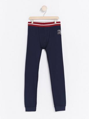Cotton Long Johns Blue