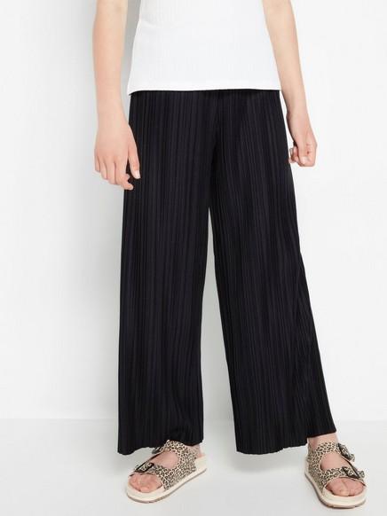 Laskostetut housut Musta