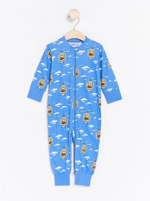 Pyjamas with Alfie Atkins Print Blue