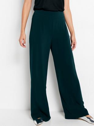 LYKKE - Green Wide Trousers Green