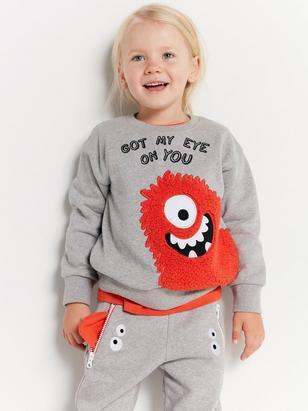 Monster Sweatshirt Grey