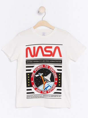 NASA T-skjorte Hvit