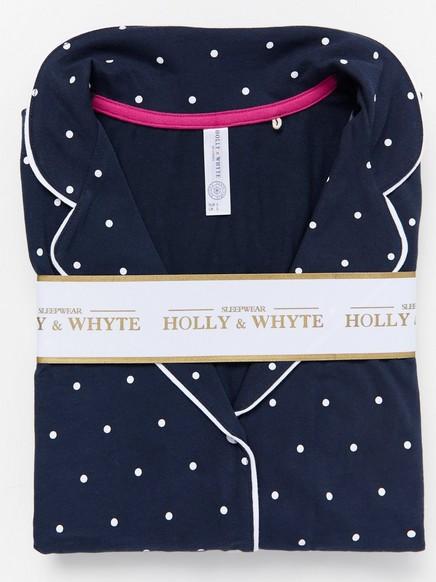 Pilkullinen pyjamasetti Sininen