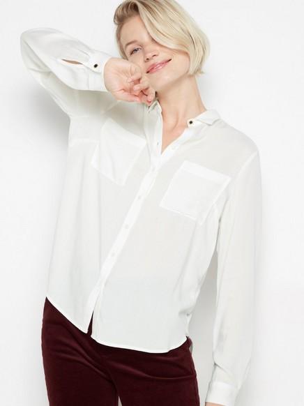 Hvit skjorte i viskose Hvit