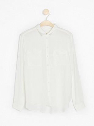 White Shirt in Viscose White