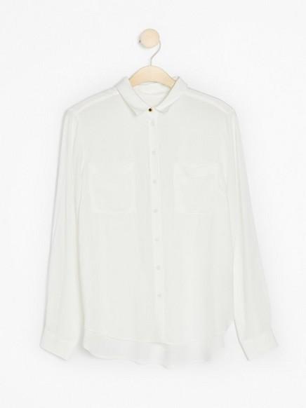 Bílá viskózová košile Bílá