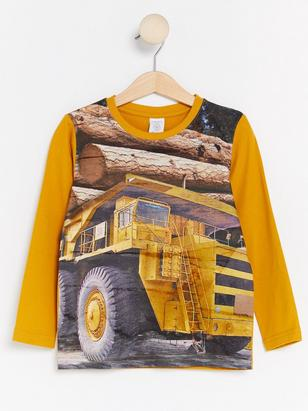 Long Sleeved T-shirt with Print Yellow