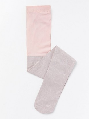 Sukkahousut, joissa lurexia Vaaleanpunainen
