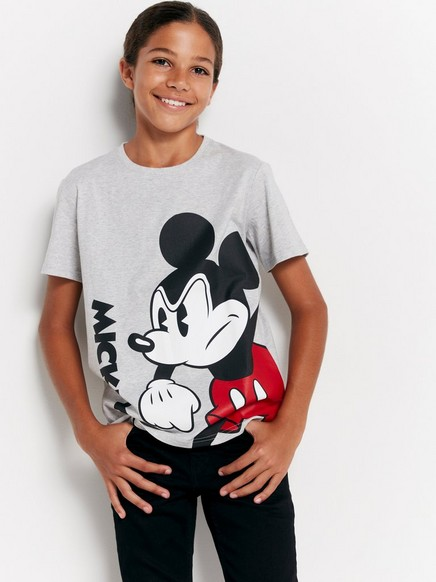 Tričko spotiskem postavičky Mickey Mouse Šedivá