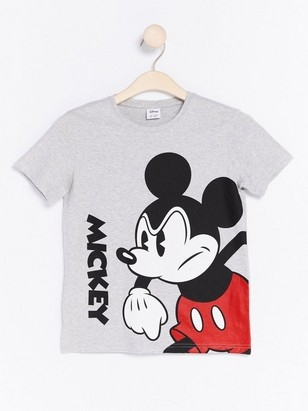 T-shirt with Mickey Mouse Print Grey