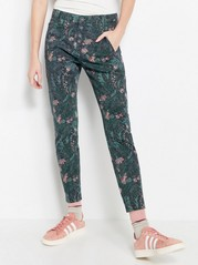 MAIA Patterned Tapered Trousers Black