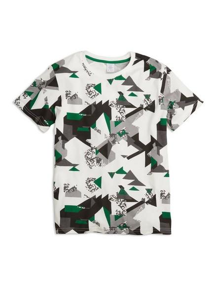 Vzorované tričko skrátkým rukávem Bílá