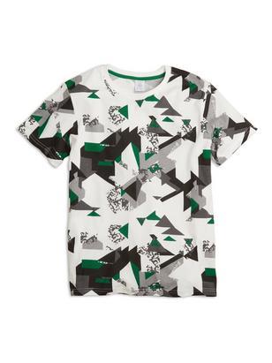 Patterned Short Sleeve T-shirt White