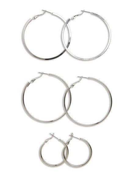 3-pack Earrings Metal