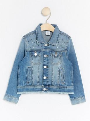 Džínová bunda sperličkami Modrá