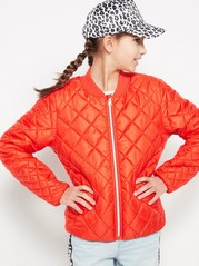 Quilted Padded Jacket Red