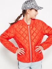 Zateplená bunda sprošíváním Červená