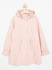 Vaaleanpunainen parka-takki Vaaleanpunainen
