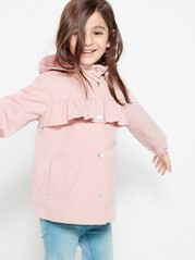 Parka with Flounce Pink