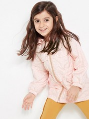 Soft Parka with Dots Pink