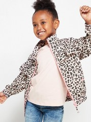 Jacket with Leo Pattern Pink
