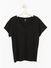 Top in Premium Cotton  Black