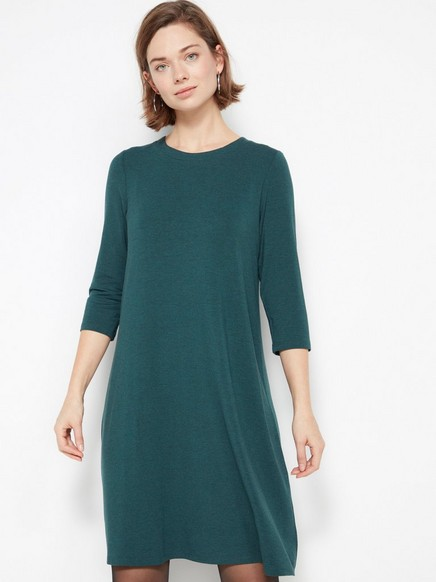 Grønn kjole i lyocellblanding Grønn