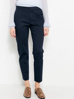 Modré klasické kalhoty IRIS Modrá