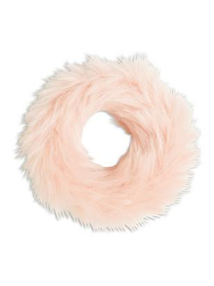 Faux Fur Scrunchie Pink