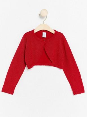 Fine-knit Bolero Red