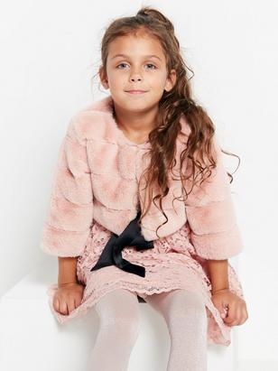 Fake Fur Bolero Pink