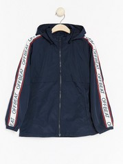 Jacket with Side Stripes Blue
