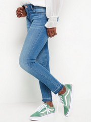 Slim Jeans with Cropped Leg Blue