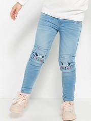 Slim jeans i trikå Blå