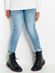 Slim Jeans with Beads Blue