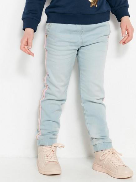 Løstsittende jeans med sidestriper Blå
