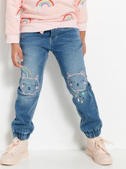 Loose Denim Trousers Blue