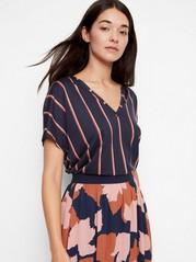 Striped Top in Tencel® Blue
