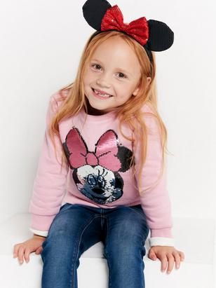 Sweatshirt with Minnie Mouse Pink