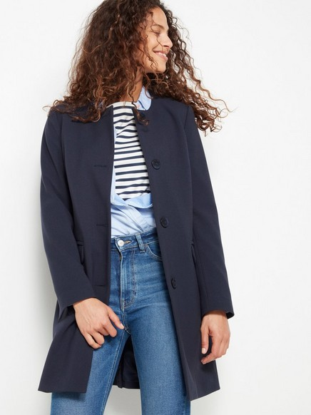 Vevet jakke Blå