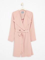 Soft Coat with Tie Belt  Pink