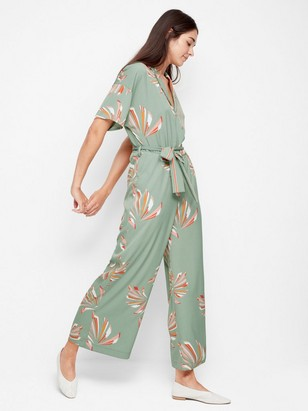 Patterned Jumpsuit Green