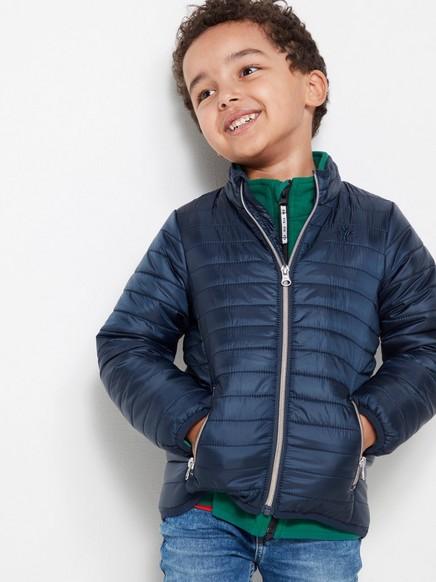 Blå, vattert jakke Blå