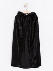 Sametový plášť Černá