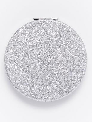 Glittery Compact Mirror Blank