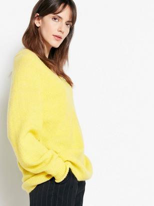 Pletený svetr Žlutá