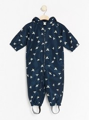 Patterned Overall Blue