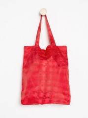 Foldable shopper  Red