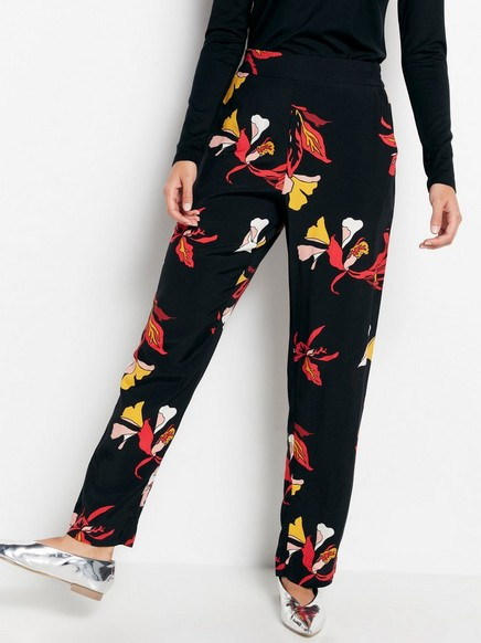 BELLA Relaxed Trousers Black